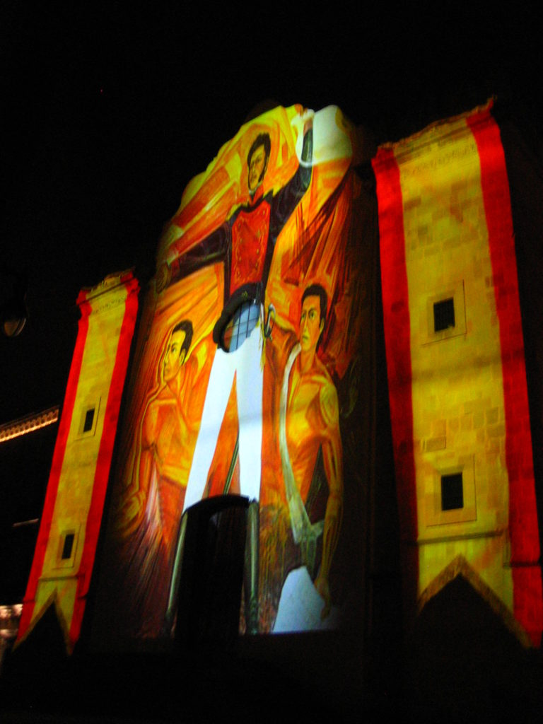 Zacatecas projection mapping