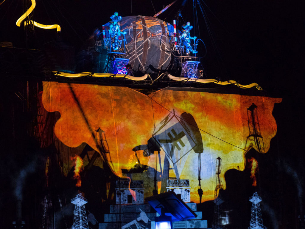 Caravan Stage Company projection mapping