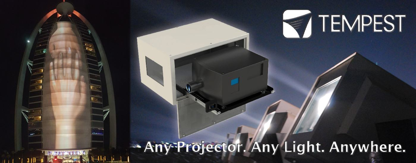 Tempest outdoor projector enclosures