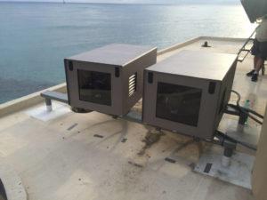 Tempest projector enclosures at Sheraton Waikiki