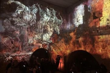 Picture Tag Tempest projector enclosures installed at the Dresden Xperience in Germany Ausstellung Festung Xperience mit Projektor-Schutzgehäusen von Tempest