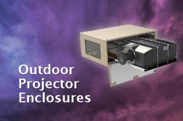 Tempest outdoor projector enclosure